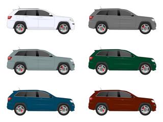 realistic car set