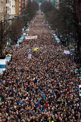 Thousands of pensioners march during a protest in favour of higher state pensions, in Bilbao