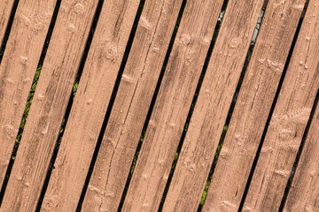 Lattenzaun aus Holz