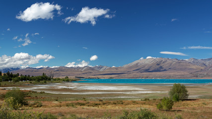 Distant View of Lake Tekapo on a Summer's Day