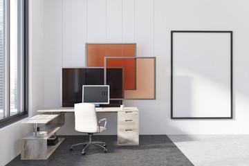 Modern office, poster, art installation