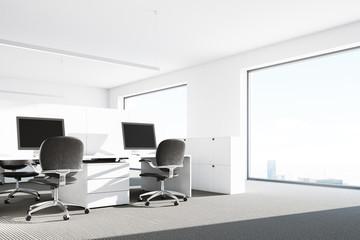 Modern office interior close up
