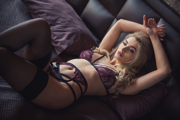 Sexy woman in lingerie