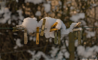 Snowy Clamps