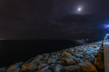 Night sea landscapes of Italy