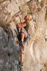 rock climber woman