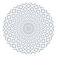 Circle design element. Abstract geometric rotation pattern.