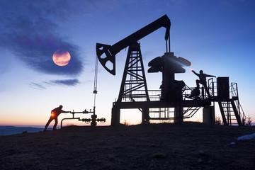 Oil pump at sunrise