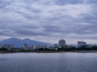 The bay of Sokcho city. January 2017