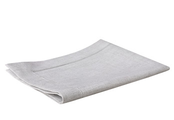 Grey kitchen towel cloth isolated.