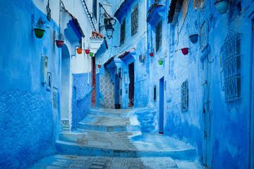Papiers peints Maroc Blue city of Chefchaouen Morocco