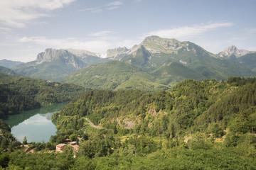 lake of Gramolazzo, Minucciano, Gargfagnana, Toscana, Italy, Europe