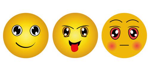 Sammlung von Emoticons. Eps 10 Vector Datei