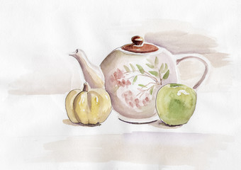 Watercolor pot 2