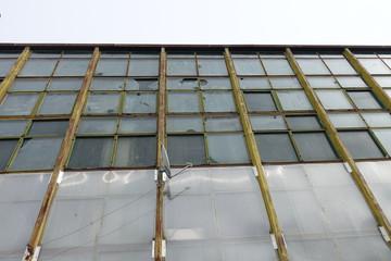 Old industrial factory facade windows