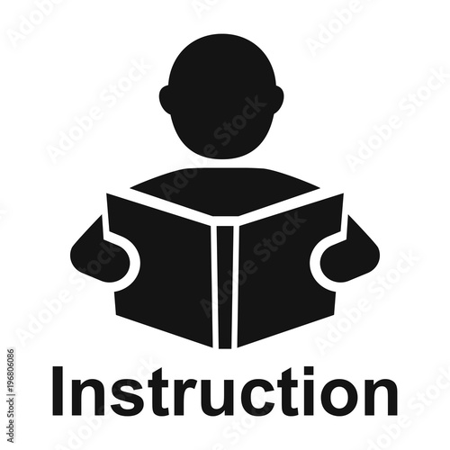 An Read A Book Simple Icon Education Symbol Instruction Manual