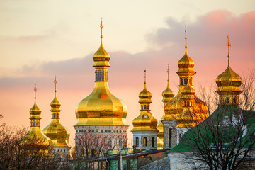 Foto auf Leinwand Kiew St. Michael's Golden-Domed Monastery in Kiev (Ukraine)