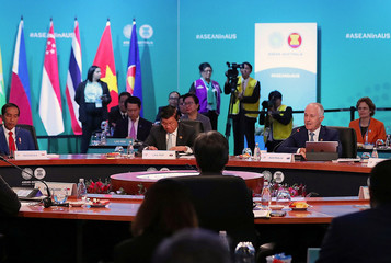 Australian Prime Minister Malcolm Turnbull speaks at the start of the Leaders' Plenary session during the one-off ASEAN summit in Sydney