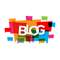 Blog graphic abstract vector full color