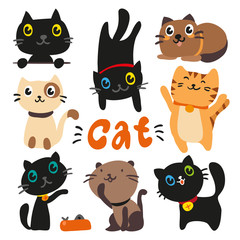 cats charcater design