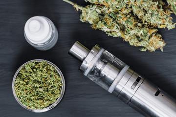 Vaping Marijuana Vapor Vape e-cigarette