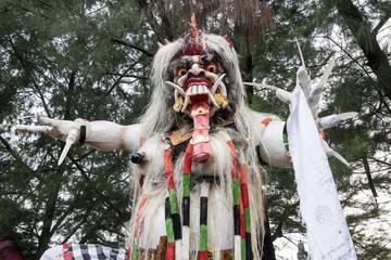 Ogoh-ogoh monster at Balinese new year in Surabaya, East Java