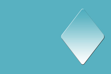 an symbol or shape of club card drawn on a blue background.