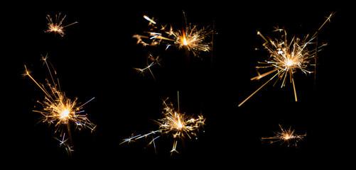 gunpowder sparking after burn .