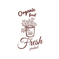 Organic Food Monochrome Emblem