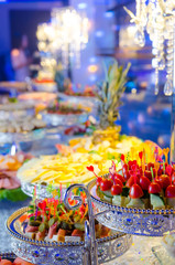 Delicacies and snacks at a buffet or Banquet.