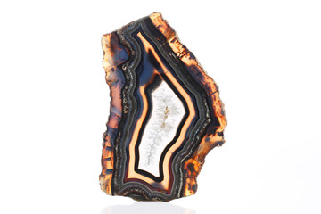 Mineral,colored agate with nacre rock geology