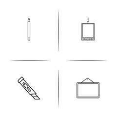 Creative Process And Design simple linear icon set.Simple outline icons