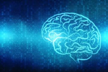 Human brain 2d illustration, Digital illustration of Human brain structure, Creative brain concept background, innovation background,