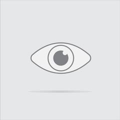 eye isolated icon
