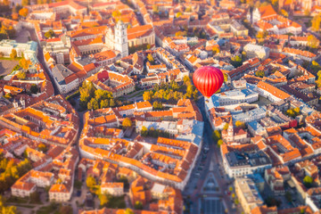 Aluminium Prints Eastern Europe Aerial view of Vilnius, Lithuania