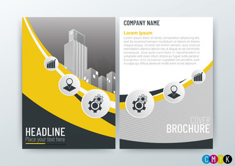 A4 Size, Abstract modern Background Creative Design, Business Brochure Concept, Template Flyer Layout, Annual Report-Vector Illustration