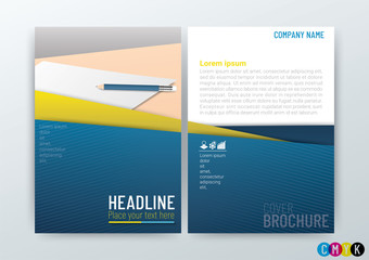 Abstract modern flyers brochure design, annual report, Corporate templates, stationery in size a4-Vector Illustration
