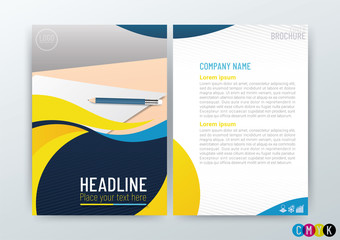 Abstract modern flyers brochure design, annual report, stationery templates in size a4, Vector Illustration