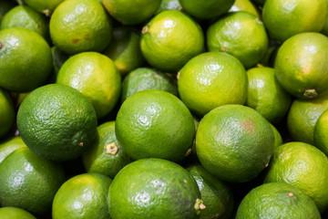 Ripe limes on the farm market