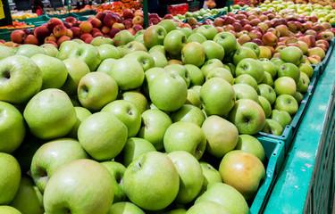 Apples on the farm market