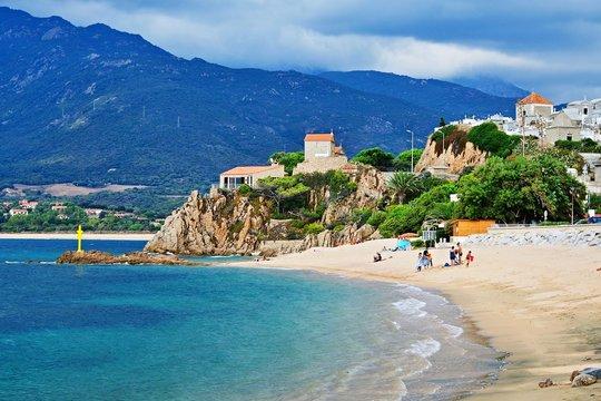 Corsica-view of the beach in Propriano
