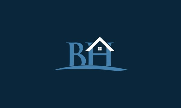 Letter BH Home Property Creative Logo