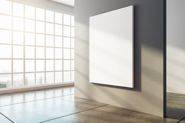Modern interior with empty banner