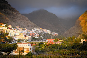 La Gomera in the sunshine, just before a thunder storm