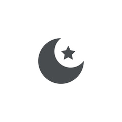 crescent icon. sign design