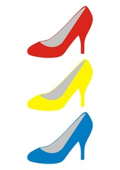 women's shoes, colorful vector icon, advertising illustration