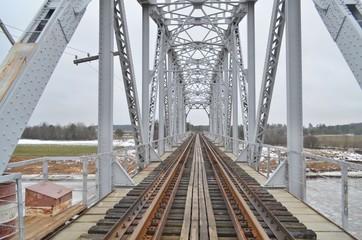 The railway bridge over a river