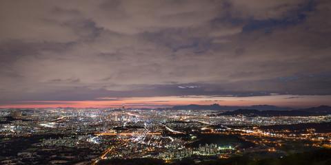 남한산성에서 바라본 서울의 야경