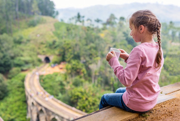 View over Nine Arches bridge