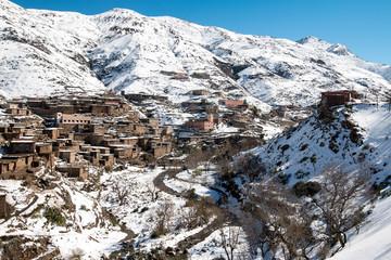 Berber village in the Atlas Mountains, Morocco